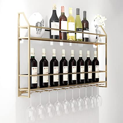 Wall wine racks Simple Freestanding Wine Racks Wall Mounted Wine Rack Bottles Storage Glass Metal Holder Home Decor For Amazoncom Amazoncom Freestanding Wine Racks Wall Mounted Wine Rack Bottles