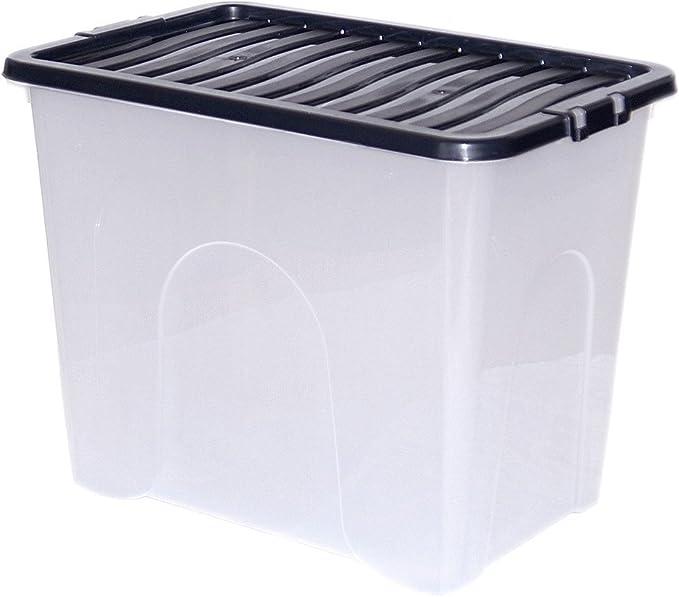 CrazyGadget® - Caja de almacenaje (80 L, plástico, tamaño Grande, 10 Unidades): Amazon.es: Jardín
