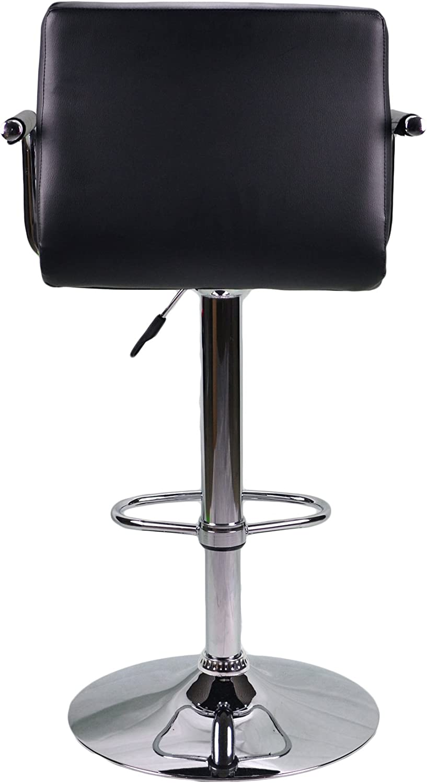Black Havana PU Faux Leather Chrome Kitchen Breakfast Counter Bar Stool Barstools Swivel Stools Chair Seat