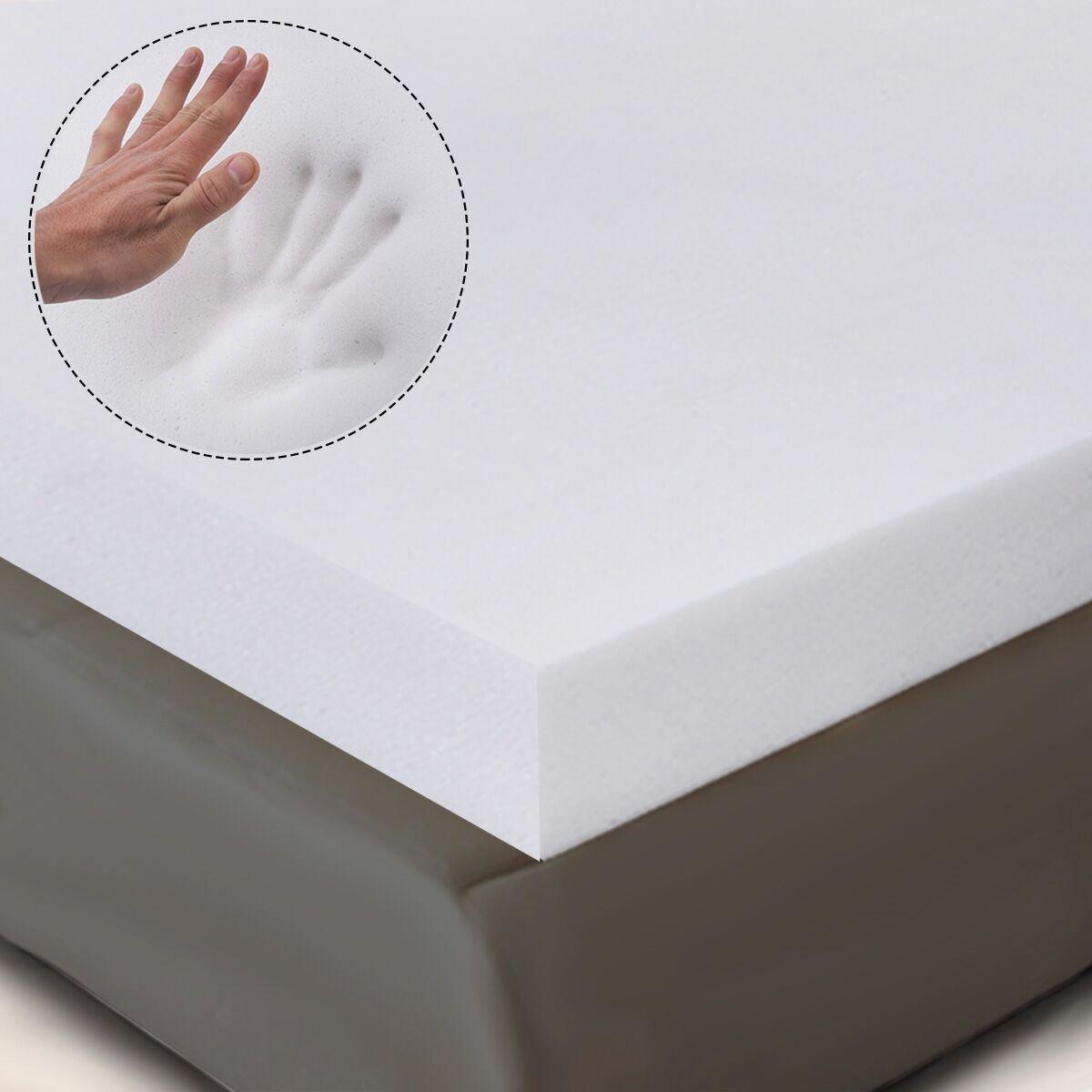 MasterPanel - 3'' Queen Size Memory Foam Mattress Pad, Bed Topper 80''x60''x3'' #TP4513