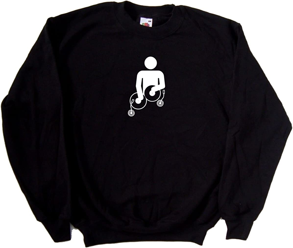 TeeTreeDesigns Mixing Decks DJ Black Sweatshirt