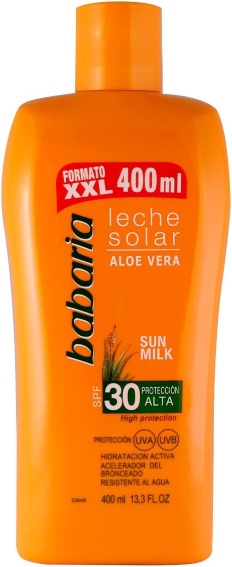 Babaria Leche Solar Aloe Vera SPF30-400 ml: Amazon.es: Belleza