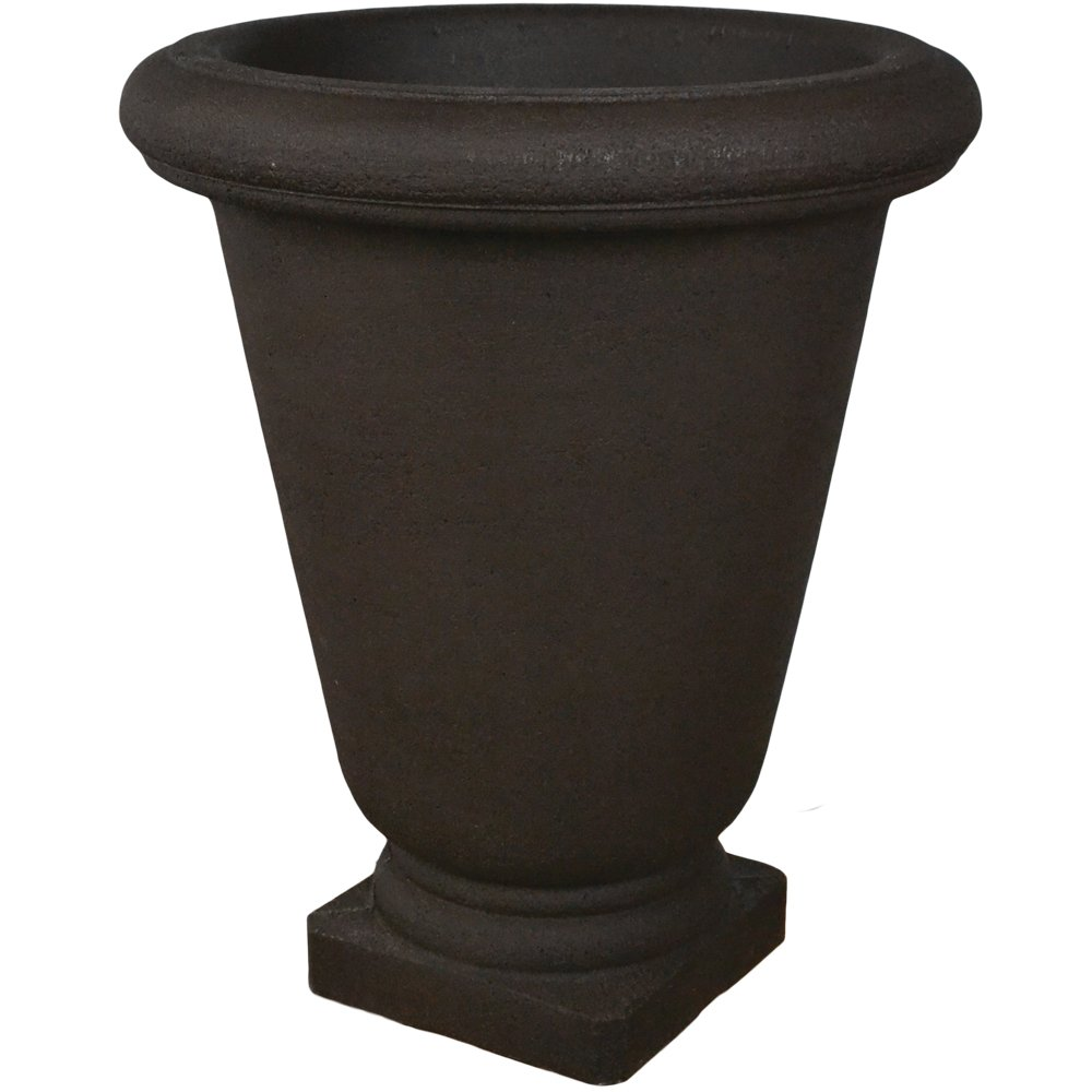 JapiPoly Resin Bell Urn Planter - Coffee--22''w x 26''h by Japi