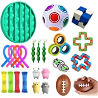 AM ANNA Sensory Fidget Toys Set,26 Pack Simple Dimple Fidgets Toy for Kids Adults Stress Relief and Adult Anxiety Relief…
