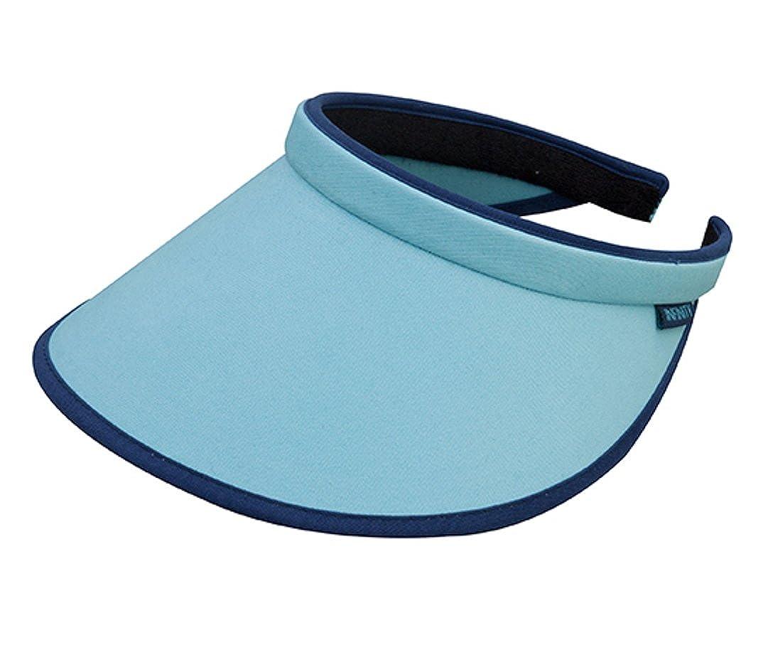 The G Cap G Brushed Cotton Clip-on Visor Blue