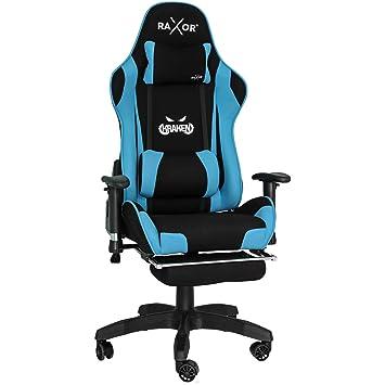 Computerstuhl Hochwertiger Stuhl Höhenverstellbar Mit Bürostuhl ergonomischer Drehstuhl Raxor Gaming Racing Schreibtischstuhl Chefsessel 8mv0nwON