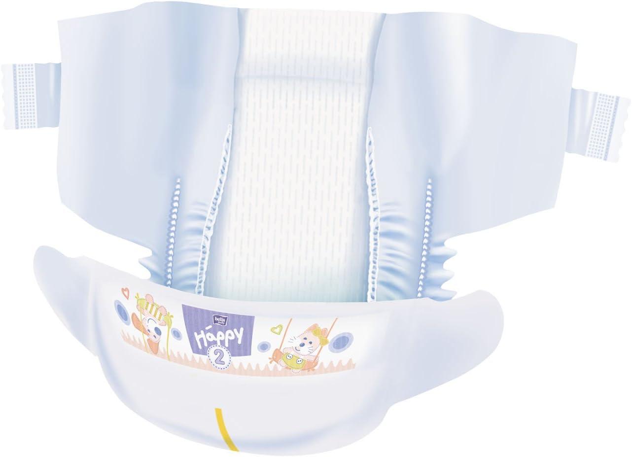 156 St/ück bella baby Happy Windeln Mini Gr/ö/ße 2 3-6 kg mit Urin-Indikator