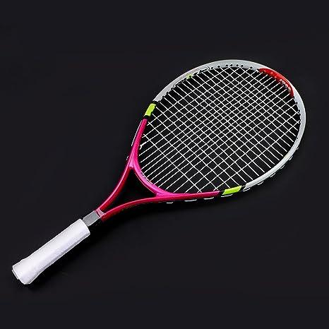 Alomejor - Pala de Tenis para niños con Cuerdas duraderas, para ...