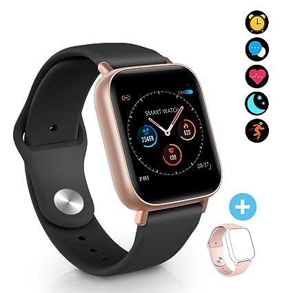 BYTTRON Smart Watch Fitness Tracker, Bluetooth Smartwatch IP68 a Prueba de Agua con Monitor de sueño de frecuencia cardíaca Call Remind Activity ...