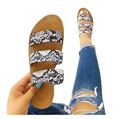 Sandals for Women Platform, 2020 Snakeskin Flatform Sandal Shoes Summer Beach Travel Fashion Slipper Flip Flops: Clothing