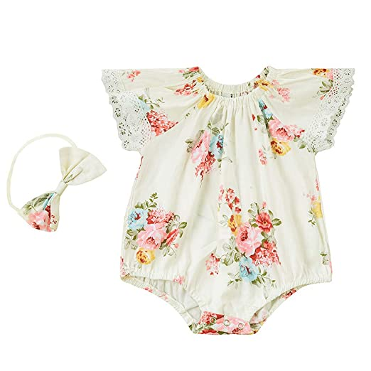 1pc toddler Baby infant summer girl clothes soft lace bodysuit baby shower gift