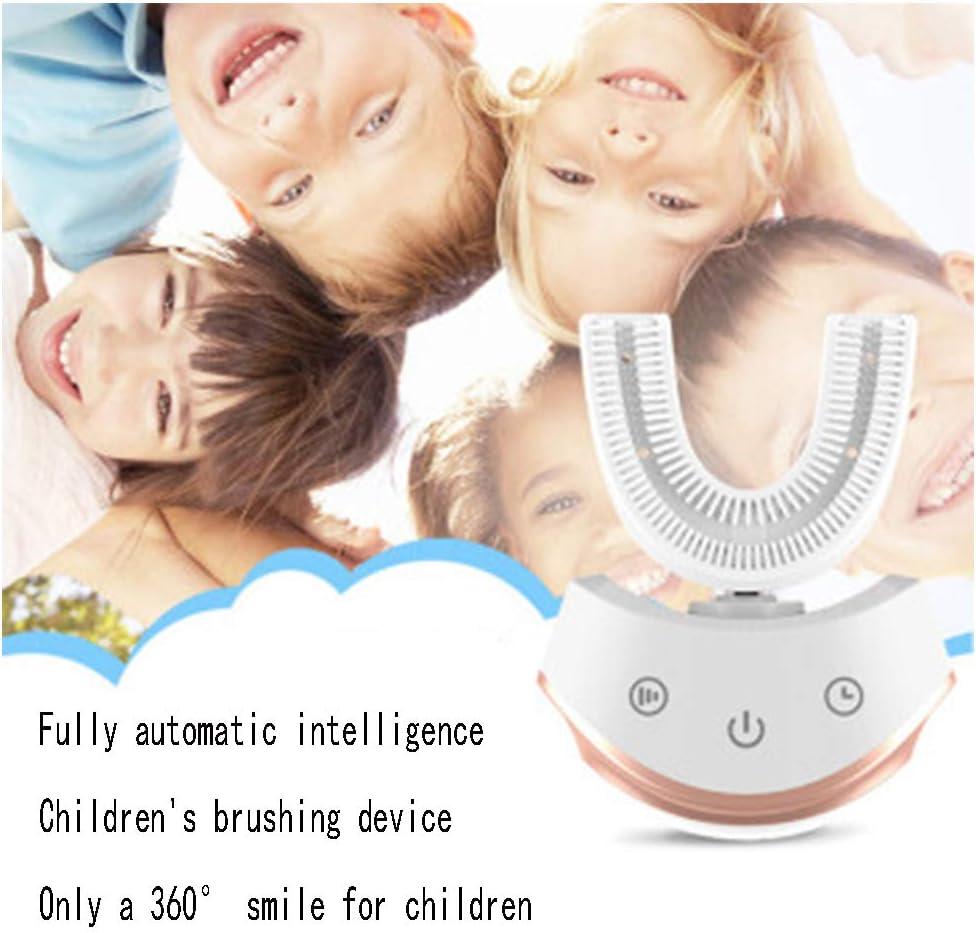 子供に愛され、子供の子供の赤ちゃん3-6-12ソニック自動歯ブラシ、U字型、3次元自動充電の怠populationな人口