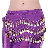 Pink Lizard 3 Row Belly Dance Hip Skirt Scarf Belt Waistband Dance Performance Supplies