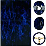 Leidersty Hydrographic Film Flames Water Transfer Film Hydro Dipping Film for Decor