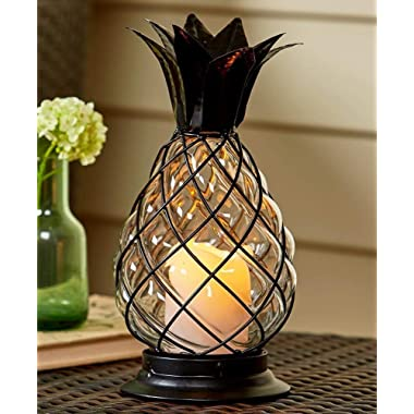 The Lakeside Collection Pineapple Hurricane Lantern