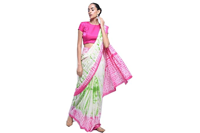 60fb12d2ed Image Unavailable. Image not available for. Colour: Indian Hand Block  Printed Cotton Mul Sarees For Women Designer ...