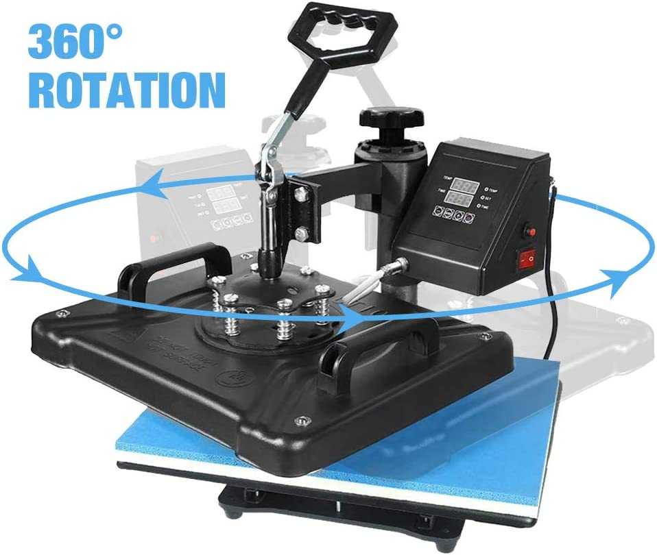 AONESY Heat Press 12 X 15 Inch Heat Press Machine 5 in 1 Digital Multifunctional Sublimation T-Shirt Heat Press Machine for T Shirts Hat Mug Cap Plate