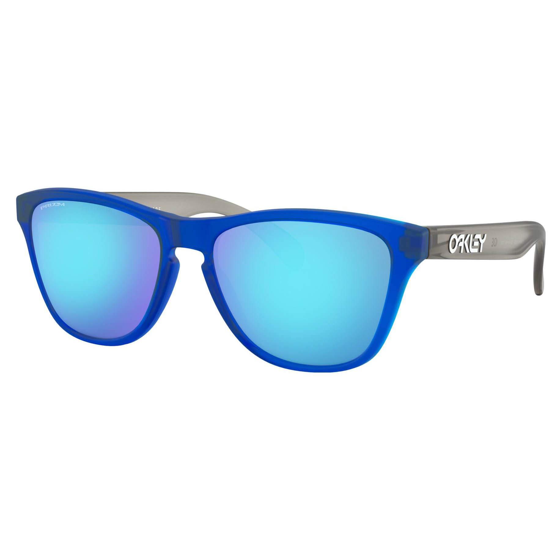 Oakley Youth Boys OJ9006 Frogskins XS Round Sunglasses, Matte Translucent Sapphire/Prizm Sapphire, 53 mm