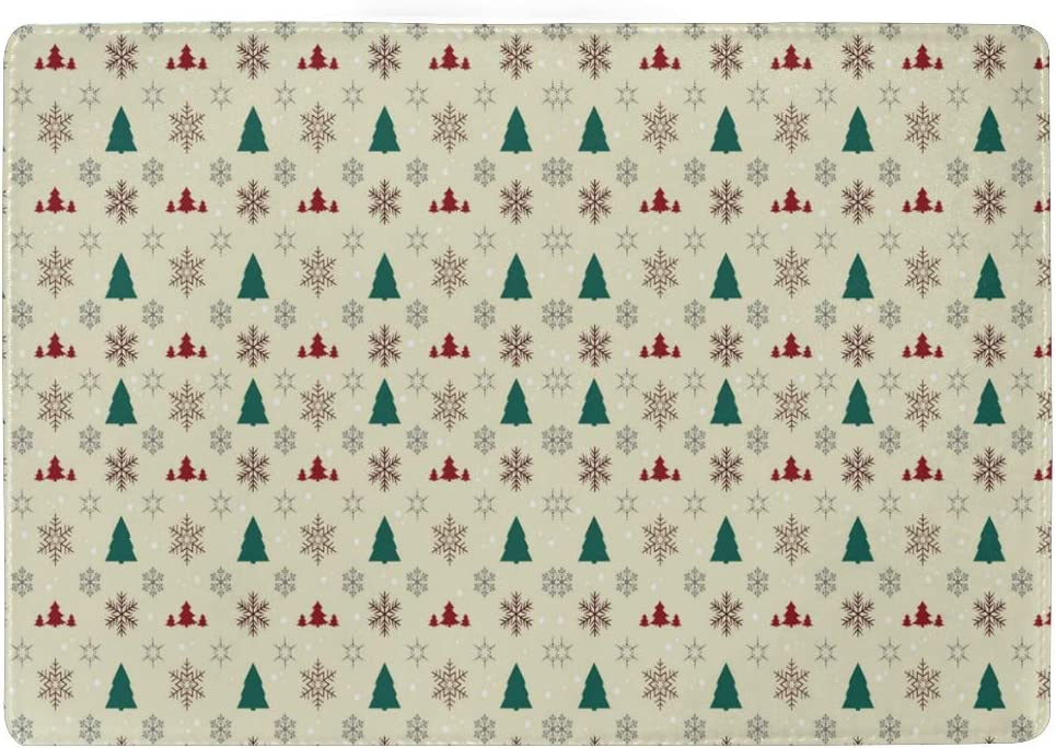 Christmas Tree White Leather Passport Holder Cover Case Blocking Travel Wallet