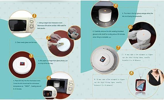 Hellery Glasschmuck Werkzeuge Mikrowellenofen Kleine Glasschmelzofen Elektrische Glas/öfen Supplies Kit umweltfreundlich sicher bequem