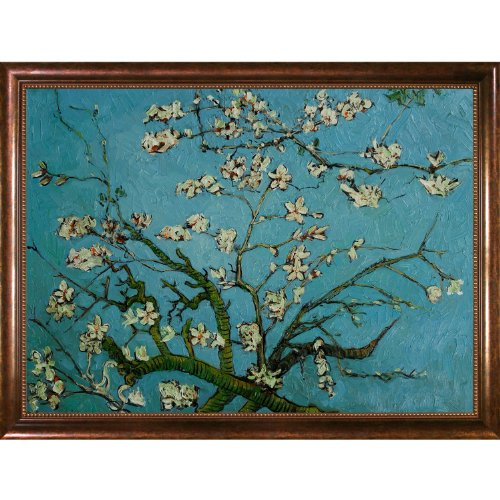 overstockArt Vincent Van Gogh Branches of an Almond Tree in Blossom 36-Inch by 48-Inch Framed Oil on Canvas - Almond Branches
