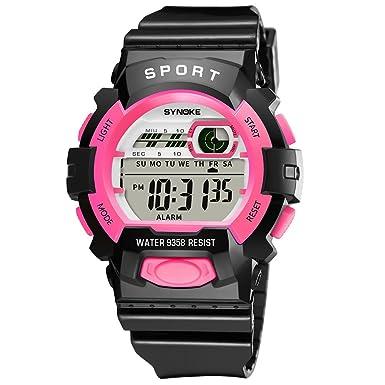 Beladla Relojes para Hombre NiñO Deportivos Impermeabl Deportes Al Aire Libre Led Multifuncionales Reloje: Amazon.es: Ropa y accesorios