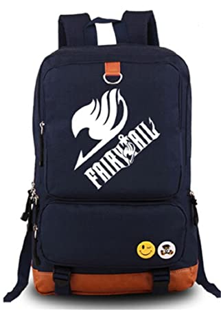 Siawasey Anime Fairy Tail Cosplay - Mochila Luminosa para Ordenador Portátil, Color Azul: Amazon.es: Hogar
