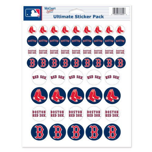 WinCraft MLB Boston Red Sox Vinyl Sticker Sheet, 8.5