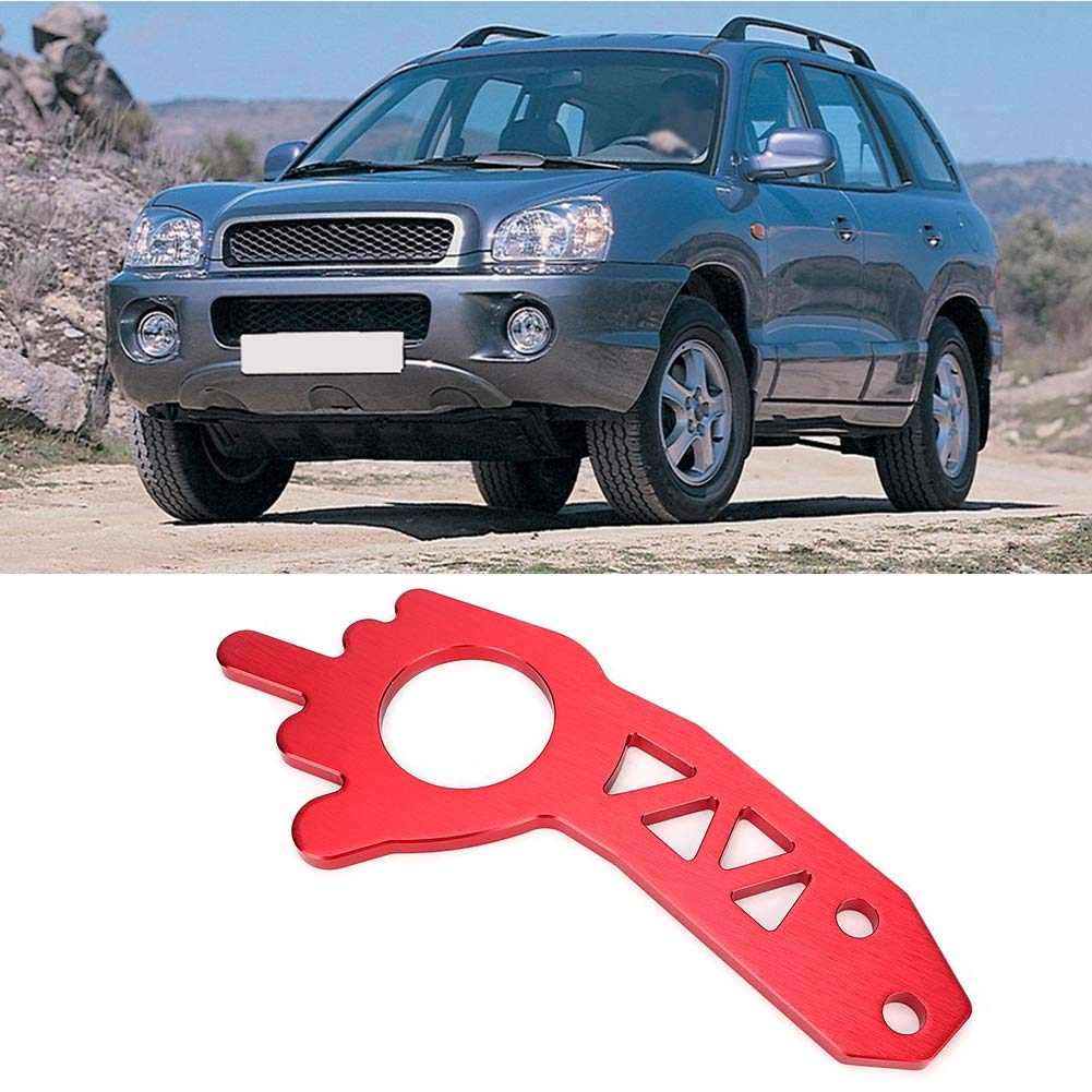 Universal Red Aluminium Alloy Car Truck Front Rear Tow Hook Ring Kit Aramox Car Tow Hook Ring