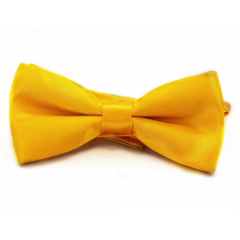 Formal Bowtie, FuzzyGreen Casual Suit Tuxedo Adjustable Solid Color Bowtie For Boy Kids Children Bow Ties - Golden