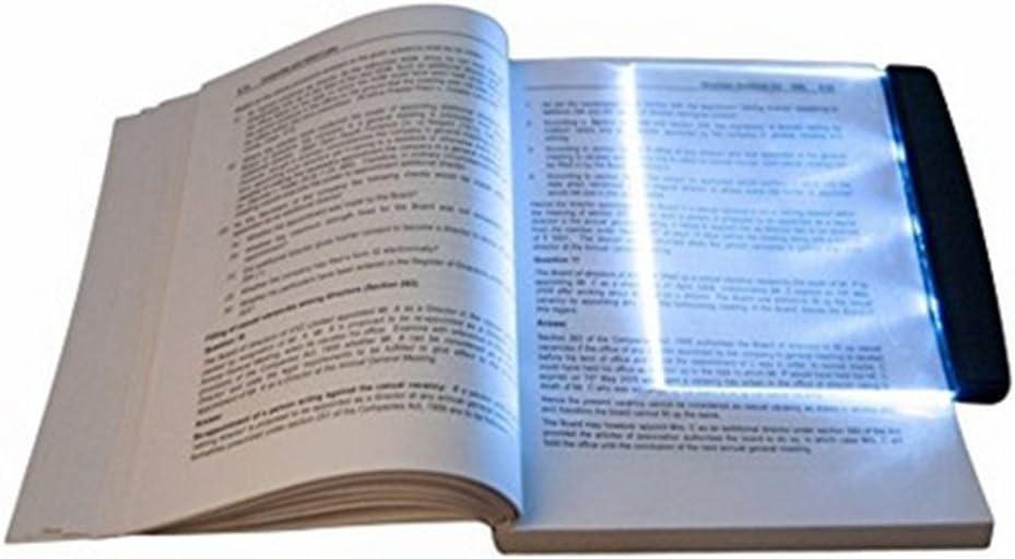 QINAIDI Vision Nocturna LED Libro Lector Luz Plana Port/átil Leyendo L/ámpara