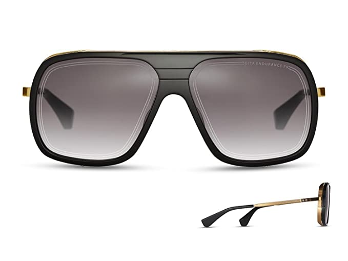 01944366a9d Sunglasses Dita ENDURANCE 79 DTS 104 01 Black-Yellow Gold w Dark Grey to  Clear-  Amazon.co.uk  Clothing