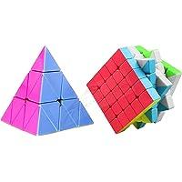 CocoRio Super Magic Speed Rubix's Cube Puzzle Combo Pack Game Multicolor (5x5x5 / Pyraminx Pyramid Triangle)