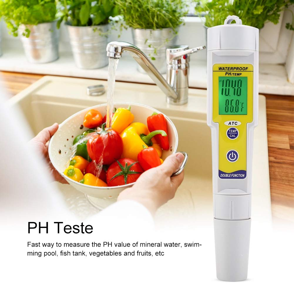 Duokon Portátil LCD Digital PH Value Tester Impermeable Piscina del Acuario Prueba de Calidad del Agua Medidor de Pluma Medidor de Prueba de Agua Ideal: ...
