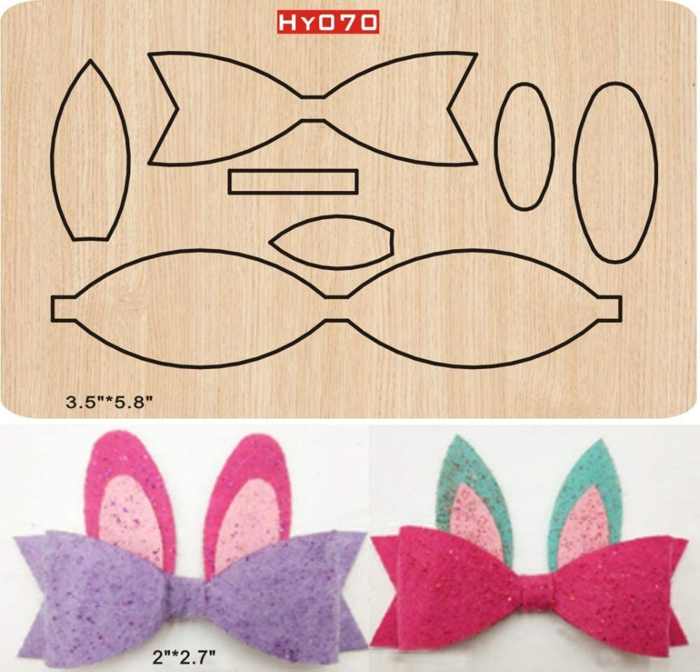 Hairpin Bowknot Gift Packing Cutter Mold For Diy Bow For Hairpin Handicraft Tool Scrapbooking Ornament Wood Die For Craft Party Home SMVAUON