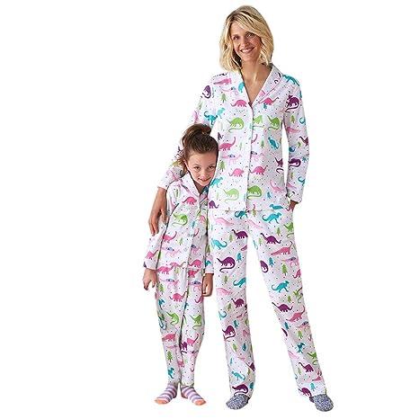 cca8afd60af8 Amazon.com  Gufenban Women Family Long Sleeve Dinosaur Print Tops+ ...
