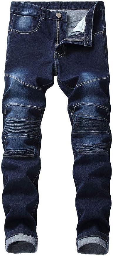 Sylar Pantalones Vaqueros Hombre Vaqueros Rectos Para Hombre Moda Jeans Slim Ocasionales Elasticos Pantalon Pantalones Hombre Pantalon Casual Vaqueros Elasticidad Hombre Azul Oscuro Amazon Es Ropa Y Accesorios