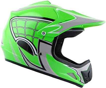 WOW Youth Kids Motocross BMX MX ATV Dirt Bike Helmet Shark Orange