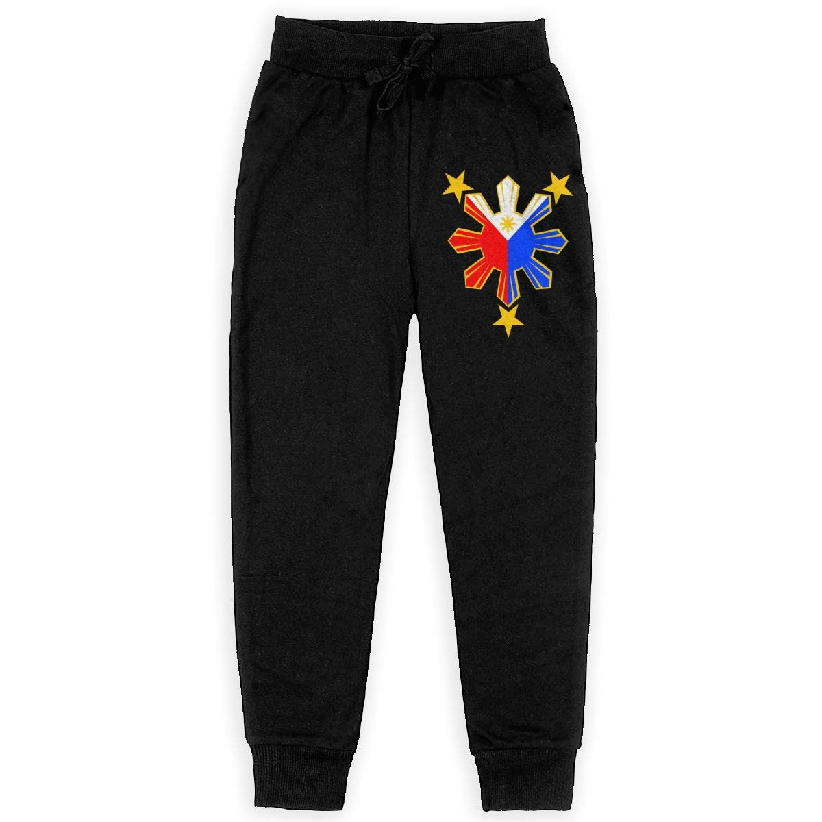 Qinf Boys Sweatpants Philippines Pride Star Flag Joggers Sport Training Pants Trousers Cotton Sweatpants for Youth