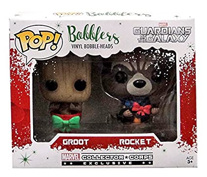 Christmas Groot Funko Pop.Groot And Rocket Pop Bobblers Hanging Christmas Ornaments Marvel Collectors Corp Exclusives