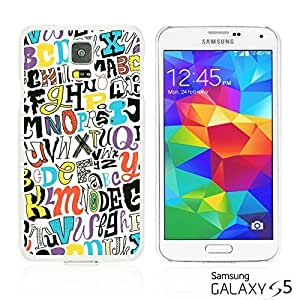OnlineBestDigitalTM - Funny Pattern Hardback Case for Samsung Galaxy S5 - A TO Z