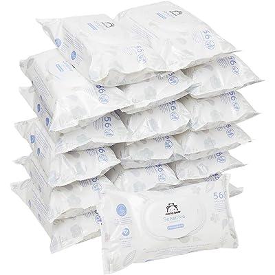 Marca Amazon - Mama Bear Sensitive Toallitas húmedas para bebé - 18 Paquetes (1008 Toallitas)