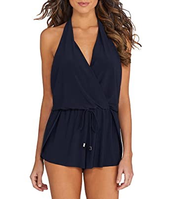 33511dd60f Magic Suit Magicsuit Solids Bianca Halter Wire-Free One-Piece, 12, Black at  Amazon Women's Clothing store: