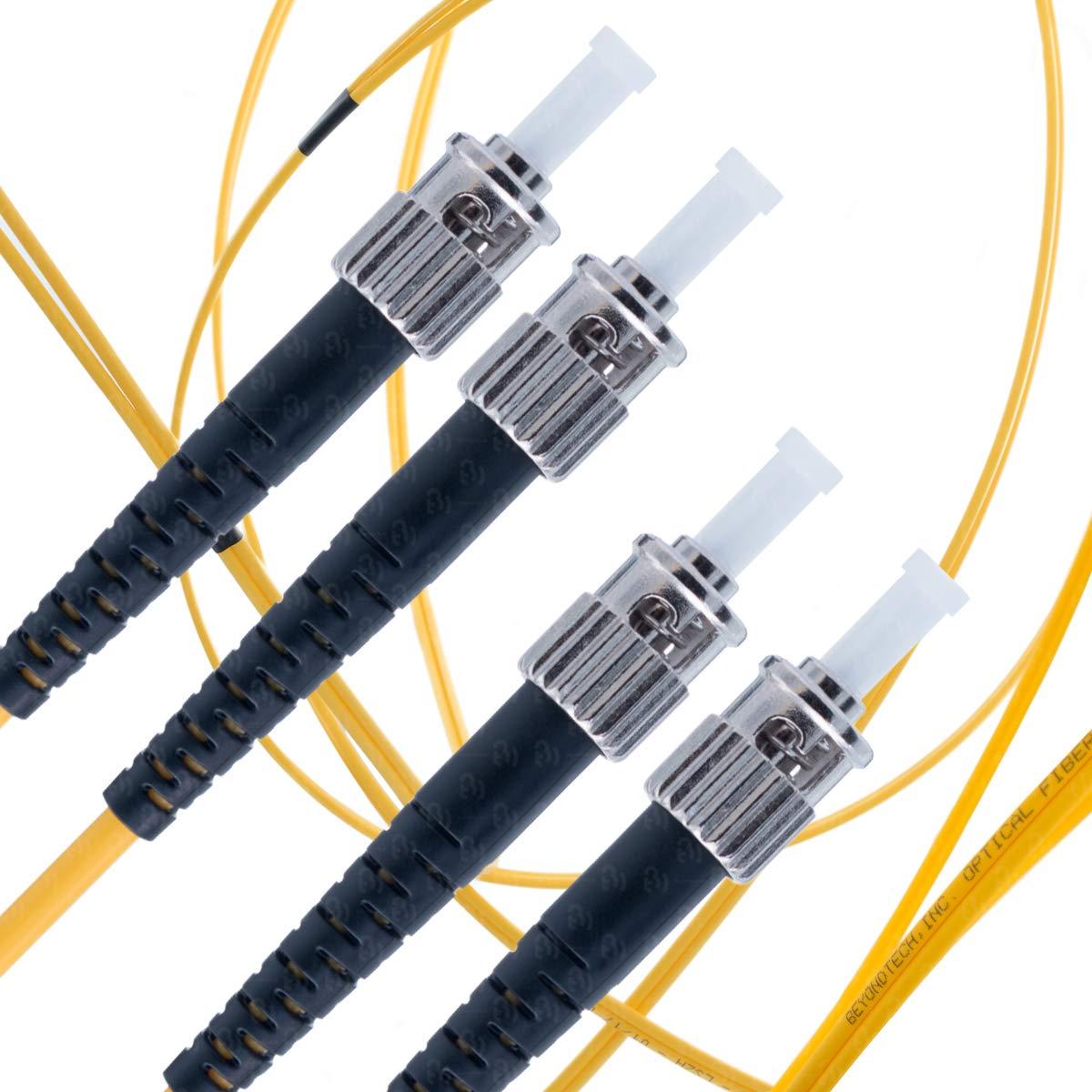 ST to ST Fiber Patch Cable Single Mode Duplex - 25m (82ft) - 9/125 OS1 - Beyondtech PureOptics Series