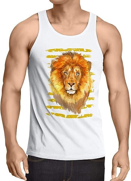 style3 León Camiseta de Tirantes para Hombre Tank Top ...
