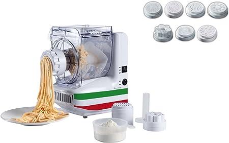 Máquina de Pasta eléctrica 10 insertos Spätzle Prensa para espaguetis de hielo de prensa (rodillo de prensa, pasta maker, rodillo de Maker, dispositivo para mezclar, – Amasadora): Amazon.es: Hogar