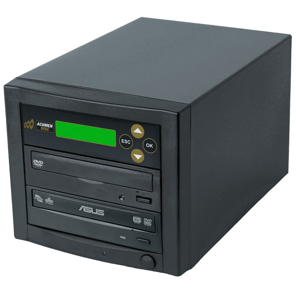 Acumen Disc CD DVD Disc Copier Duplicator System with Asus 24x DVD-Burner Writer Optical Drive D01-BAS by Acumen Disc