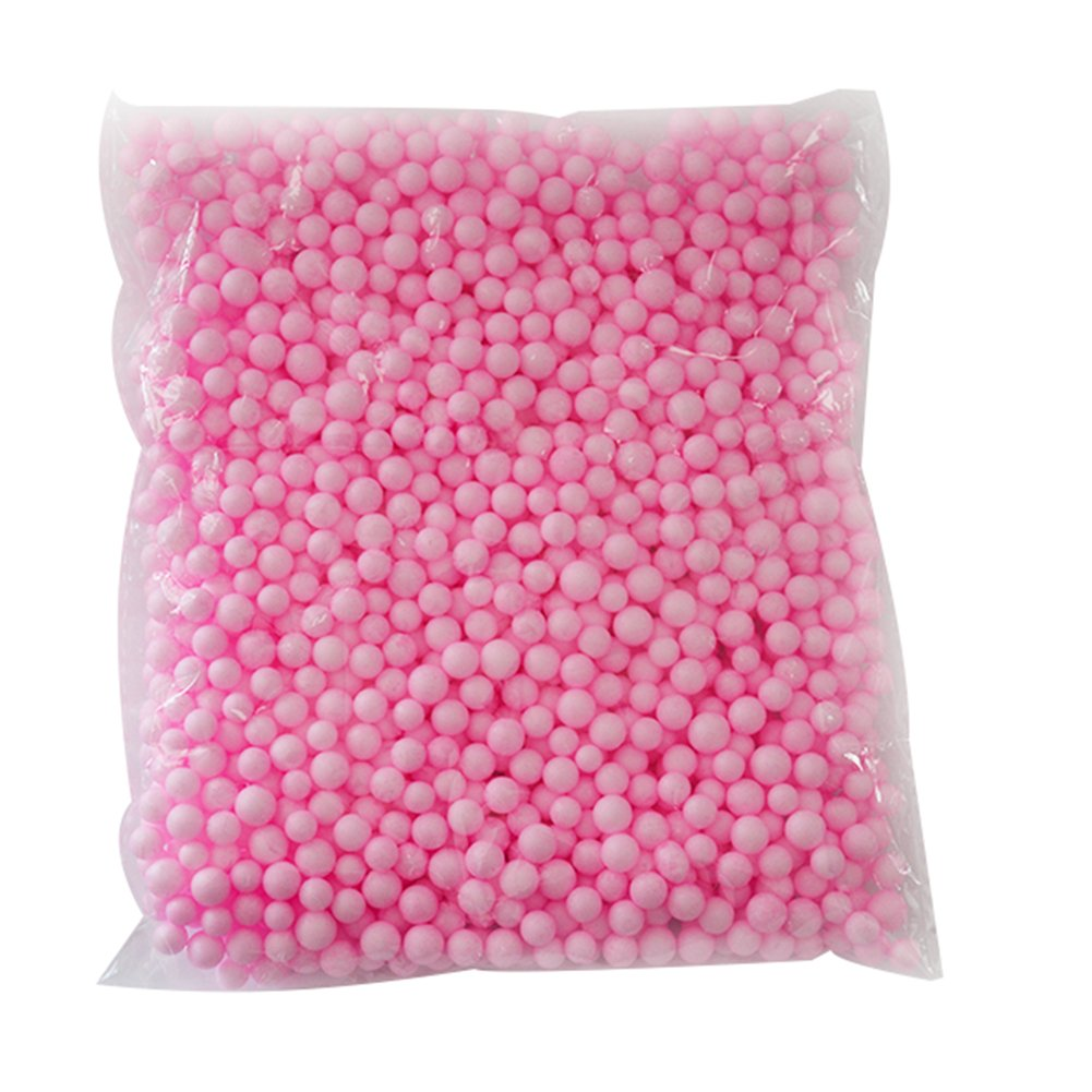 Dosige Bolitas de espuma, Material DIY, Craft Espuma Partículas, Relleno para Slime 13000-14000PCS size 2.5-3.5mm (Rosa)