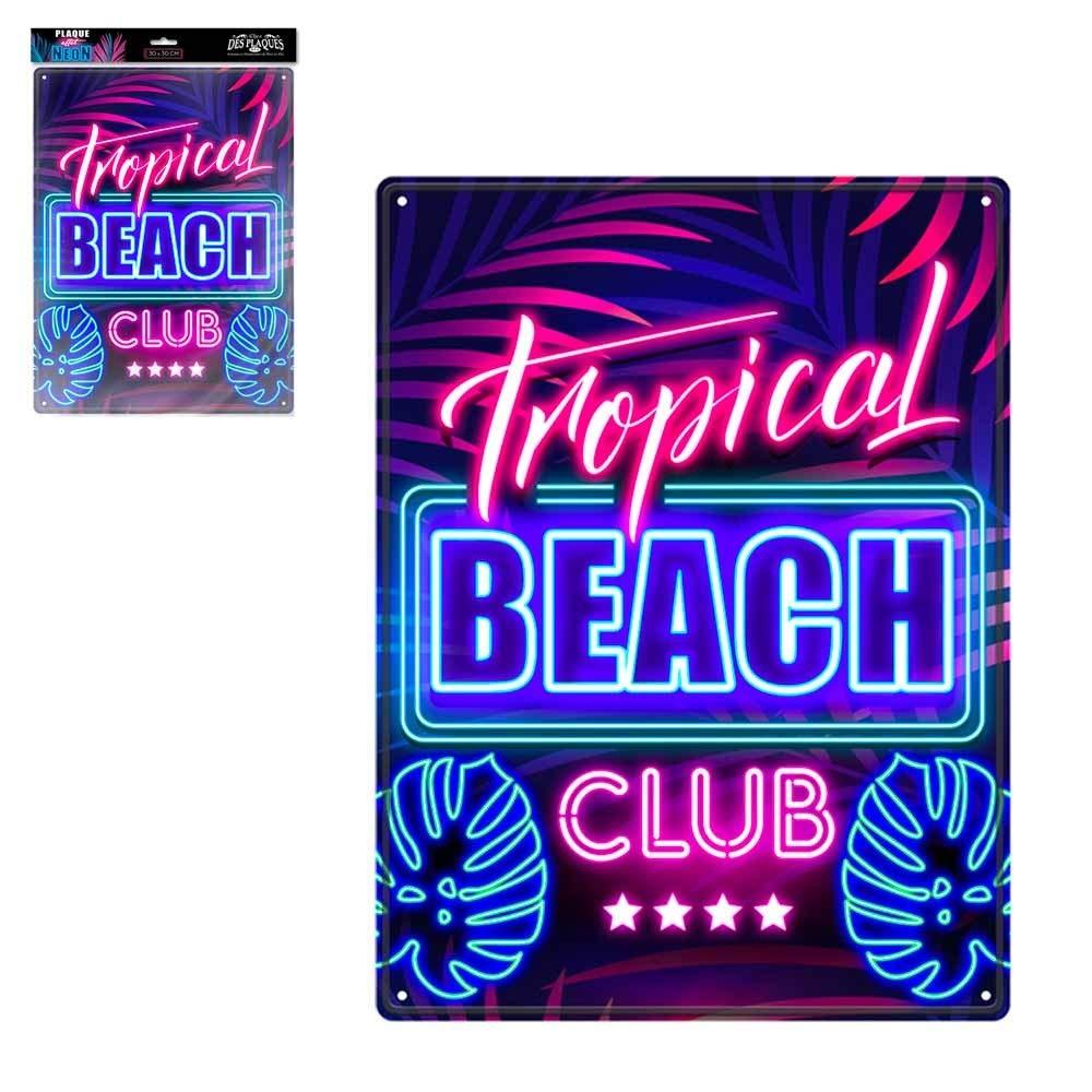 STC Plaque Effet Neon Beach Club