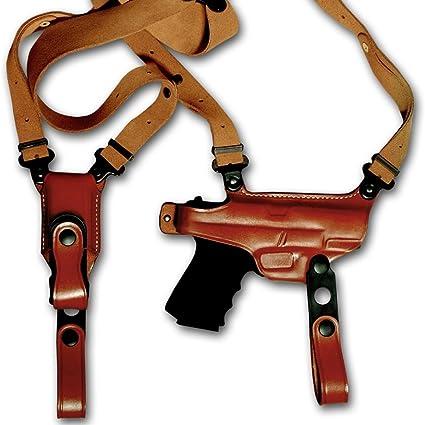 Leather Horizontal Shoulder Holster Single Mag Carrier GLOCK 19// 23// 32 #1014#